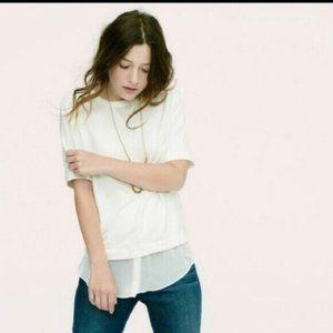 Lou & Grey Women Short Sleeve Shirt Size Medium